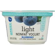 Kroger Yogurt, Greek, Nonfat, Blueberry, Light