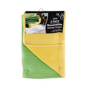 Royal Crest Lifestyle By Royal Crest Terry/Lint Free Assorted Citrus 17x20 Reversible Kitchen Towels - 2 PK