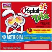 Yoplait Trix Strawberry Banana Bash Low Fat Yogurt