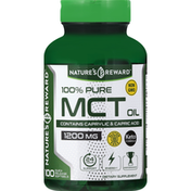 Nature's Reward MCT Oil, 100% Pure, 1200 mg, Quick Release Softgels