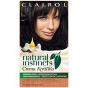 Clairol Natural Instincts Non-Permanent Hair Color Crema Keratina Hair Color Black 2 Espresso Creme 1 Kit  Female Hair Color