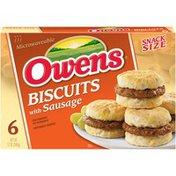 Owens Snack Size Sausage Sandwiches