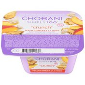 Chobani Simply 100 Crunch Peach Cobbler a la Mode Non-Fat Greek Yogurt