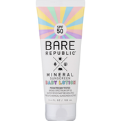 Bare Republic Sunscreen Lotion, Baby, Mineral, Broad Spectrum SPF 50