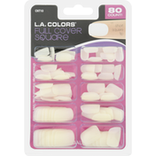 L.A. Colors Artificial Nail Tips, Full Cover Square