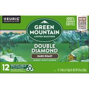Green Mountain Coffee Roasters Coffee, 100% Arabica, Dark Roast, Double Diamond, K-Cup Pods