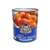 First Street Unpeeled Apricot Halves In Extra Light Syrup