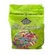 First Street Neon Sour Gummy Worms