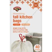 Hannaford Drawstring Tall Kitchen Bags with Odor Guard