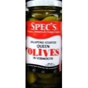 Spec's Jalapeno Stuffed In Vermouth Olives