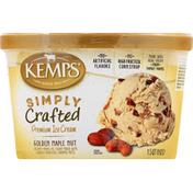 Kemps Ice Cream, Premium, Golden Maple Nut
