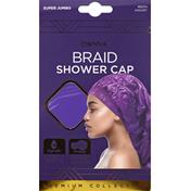 Donna Shower Cap, Braid, Assorted, Super Jumbo