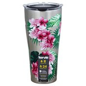 Tervis Tumbler, Stainless, Tropifloral Scenic, 30 Ounce