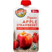 Earth's Best Stage 2 Apple Strawberry Organic Baby Food Puree