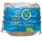 Simply Done 8-12 Cup Coffee Filters, Unbleached