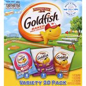Pepperidge Farm Goldfish Cheddar/Pretzel/Grahams Vanilla Cupcake Variety Pack Baked Snack Crackers/Baked Graham Snacks