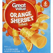 Great Value Orange Sherbet Tubes