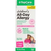 TopCare Children'S Indoor & Outdoor All-Day Allergy Cetirizine Hydrochloride 1 Mg/Ml Antihistamine Oral Solution, Bubble Gum
