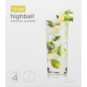 True Highball Glasses, Set of 4