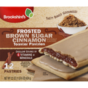Brookshire's Toaster Pastries, Brown Sugar Cinnamon, Frosted