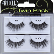 Ardell Lashes, 113 Black, Twin Pack