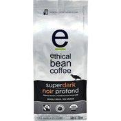 Ethical Bean Fairtrade Organic Coffee, Superdark French Roast, Whole Bean Coffee