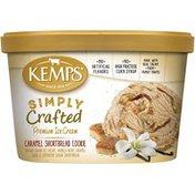 Kemps Simply Crafted Caramel Shortbread Cookie Premium Ice Cream
