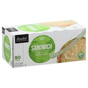 Essential Everyday Sandwich Bags, Click 'n Lock, Double Zipper