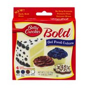 Betty Crocker Gel Food Colors Bold Black, Dark Blue, Brown, White - 4 CT