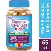 Digestive Advantage KIDS Prebiotic Fiber Plus Probiotic Gummies - Reduce Minor Abdominal Discomfort & Bloating