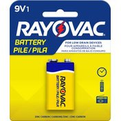 Rayovac 9V Zinc Carbon Battery