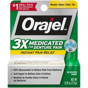 Orajel 3X Medicated For Denture Pain Gel