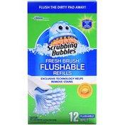 Scrubbing Bubbles Fresh Brush Flushable Refills Citrus Action Toilet Cleaner