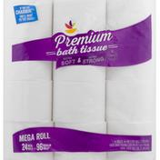 Ahold Bath Tissue, Premium, Mega Rolls, 2-Ply Sheets