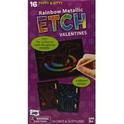 Mello Smello Cards & Stylus, Etch Valentines, Rainbow Metallic