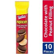 Marinela Principe Chocolate and Peanut Cream Sandwich Cookies