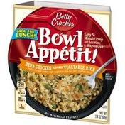 Betty Crocker Herb Chicken Flavored Vegetable Rice Bowl Appetit!