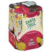 Santa Cruz Carbonated Beverage, Rose Hip Infused Earl Grey Tea Lemonade