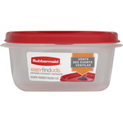 Rubbermaid Container, Easy Find Lids, 1.2 Liter