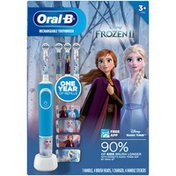 Oral-B Electric Toothbrush and Refills Value Pack featuring Disney's Frozen