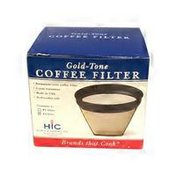Harold Import Co. #4:Gold Tone Coffee Filter