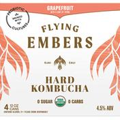Flying Embers Hard Kombucha, Grapefruit