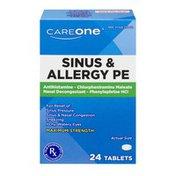 CareOne Sinus & Allergy PE Maximum Strength - 24 CT