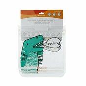 Full Circle Ziptuck Kids, Reusable Sandwich Bags, Dinosaur