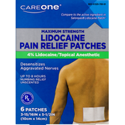 CareOne Pain Relief Patches, 4% Lidocaine