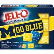 Jell-O University of Michigan Berry Blue/Lemon Jigglers Mold Kit