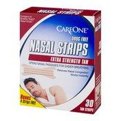 CareOne Nasal Strips Extra Strength Tan - 30 CT