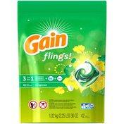 Gain flings! Laundry Detergent Pacs, Original, 42 Count Laundry