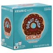 Donut Shop Coffee Coffee, Medium Roast, Extra Bold, Decaf, K-Cup Pods