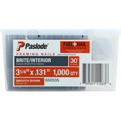 Paslode Fuel + Framing Nails, Brite/Interior, Combo Pack